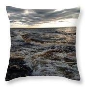 Tumultious Waters Throw Pillow