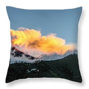 Tungurahua Blowing Off Steam Throw Pillow