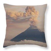 Tungurahua Volcano Erupting Throw Pillow