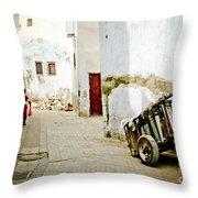 Tunisian Girl Throw Pillow by John Wadleigh