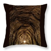 Tunnel 3 On Elroy To Sparta Bike Trail Wisconsin Throw Pillow