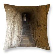 Tunnel At Meteora Monastery   #9763 Throw Pillow