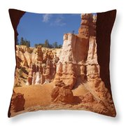 Tunnel In Bryce Throw Pillow