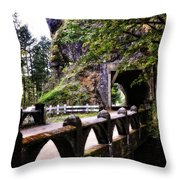 Tunnel In The Mountain Throw Pillow