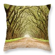 Tunnel In The Trees Throw Pillow