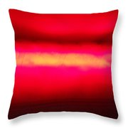 Glossy Red Throw Pillow