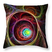 Tunnel Of Lights Throw Pillow