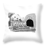 Tunnel Of Safety Throw Pillow