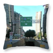 Tunnel To New York 2929 Throw Pillow
