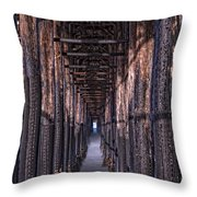 Tunnel To The Sea Throw Pillow