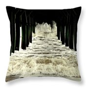 Tunnel Vision Throw Pillow by Karen Wiles