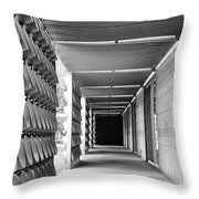 Tunnel Vision Palm Springs City Hall  Throw Pillow