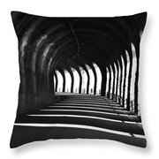 Tunnel With Shadows Throw Pillow