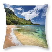 Tunnels Beach Bali Hai Point Throw Pillow