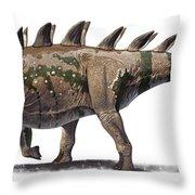 Tuojiangosaurus Multispinus Dinosaur Throw Pillow