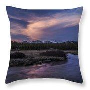 Tuolumne Meadows Sunset Throw Pillow