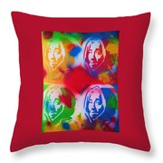 Tupac V Warhol Throw Pillow