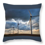 Turbines Throw Pillow