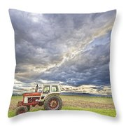 Turbo Tractor Country Evening Skies Throw Pillow by James BO  Insogna
