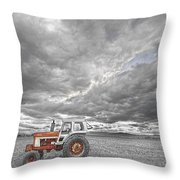 Turbo Tractor Superman Country Evening Skies Throw Pillow