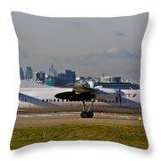 Turboprop Aircraft Throw Pillow