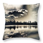 Turbulent Afternoon Throw Pillow