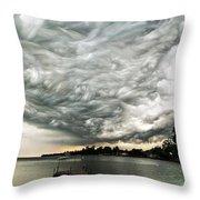 Turbulent Airflow Throw Pillow by Matt Molloy