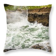 Turbulent Devils Churn - Oregon Coast Throw Pillow