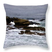 Waves Crashing Into La Jolla Shores Throw Pillow