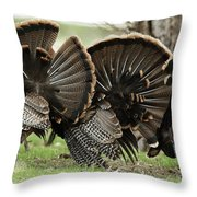 Turkey Butt Strut Throw Pillow