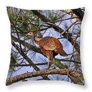 Turkey In A Tree Throw Pillow