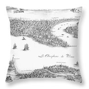 Turkey: Istanbul, 1680 Throw Pillow