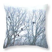 Turkey Tree Throw Pillow