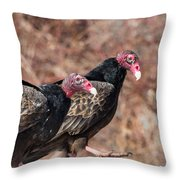 Turkey Vultures Square Throw Pillow