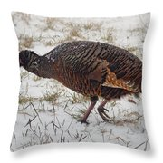 Turkey With Apple Stuffing Throw Pillow