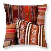 Turkish Cushions 01 Throw Pillow by Rick Piper Photography
