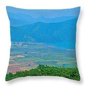 Turkish Farms Along The Aegean Sea Throw Pillow