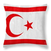 Turkish Republic Of Northern Cyprus Flag Throw Pillow