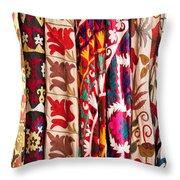 Turkish Textiles 02 Throw Pillow