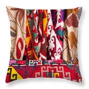 Turkish Textiles 03 Throw Pillow
