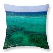 Turks Turquoise Throw Pillow