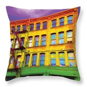 Turn Left At The Brick Building That Looks Like A Bad Acid Trip Throw Pillow
