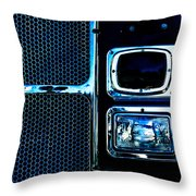 Turn Signal Fire Engine Number Five Throw Pillow by Bob Orsillo