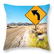 Turn There #3 Throw Pillow