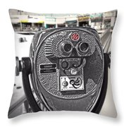 Turn To Clear The Boardwalk Throw Pillow