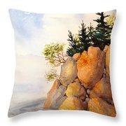 Turnagain Rocks Throw Pillow