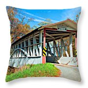 Turner's Covered Bridge Throw Pillow