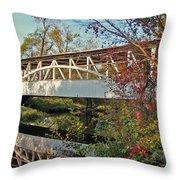 Turner's Covered Bridge Throw Pillow
