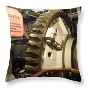 Turning Gear Engine Room Queen Mary 02 Throw Pillow