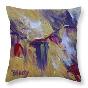 Turning To Gold Throw Pillow